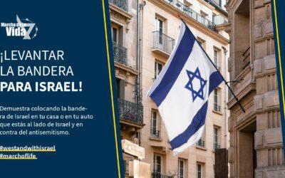 LEVANTAR LA BANDERA PARA ISRAEL